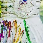 Bemaltes Brautkleid