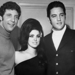Elvis und Priscilla Presley mit Tom Jones