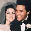 Elvis und Priscilla Presley - Das strahlende Brautpaar