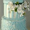 Kunstvoll verzierte Hochzeitstorte